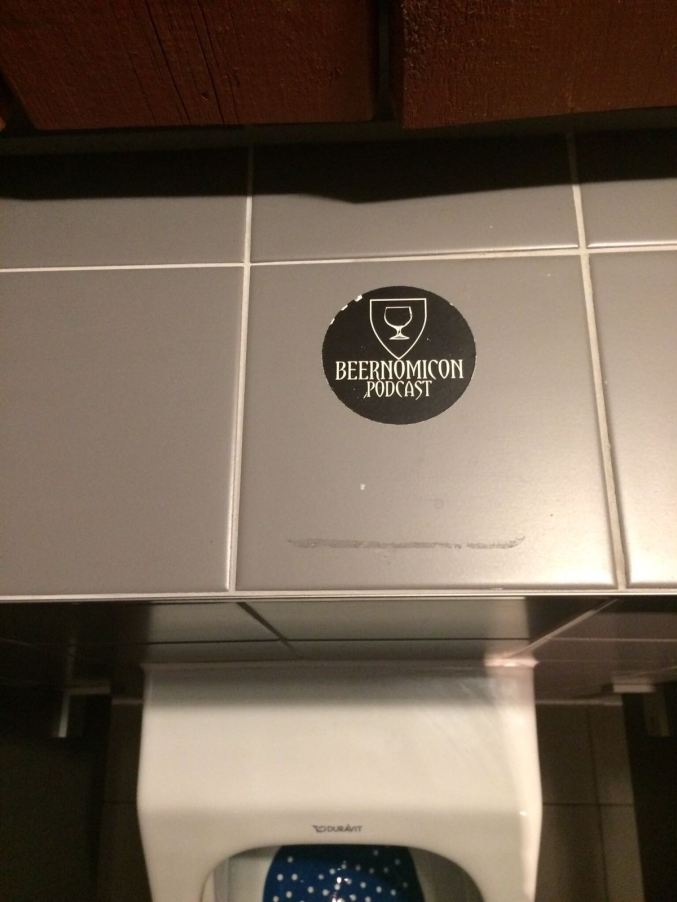 beernomicon craft beer podcast sticker toilet