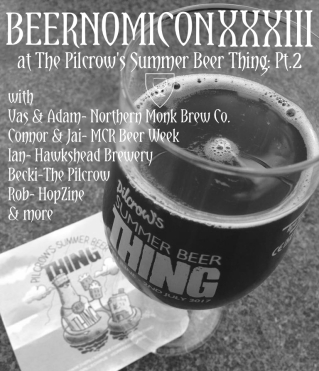 beernomicon beer podcast for the ilcrow pub summer beer thing festival